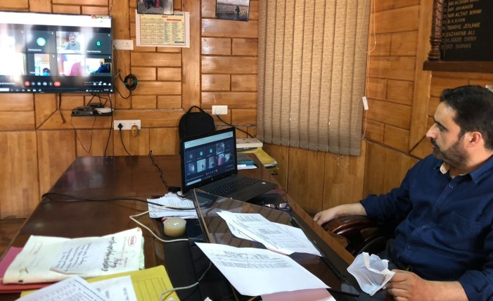 Director, RDD Kashmir holds virtual meet with officers