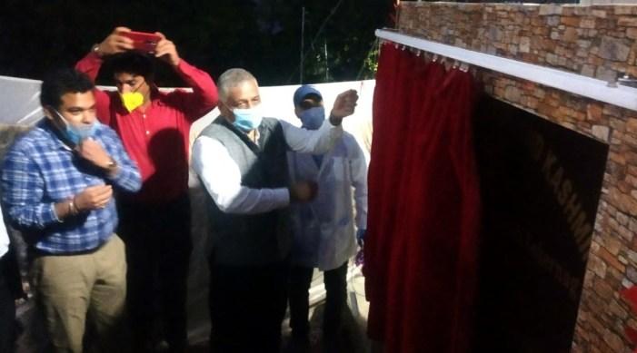 Dr. V. K. Singh inaugurates 400 LPM Oxygen Plant at SDH Kokernag