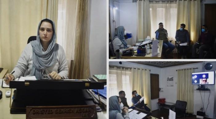 Dr. Sehrish reviews progress of JKRLM in Ramban district