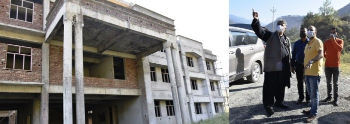 Samoon visits Ramban, inspects construction work of Government Polytechnic College