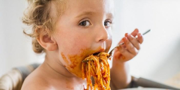 kid eating messy children