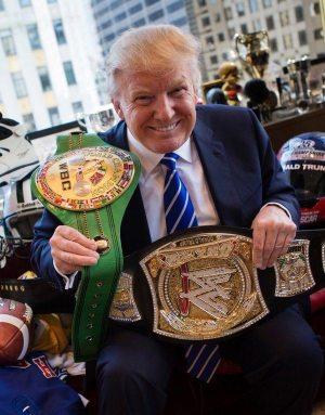 trump wwe belt triumph