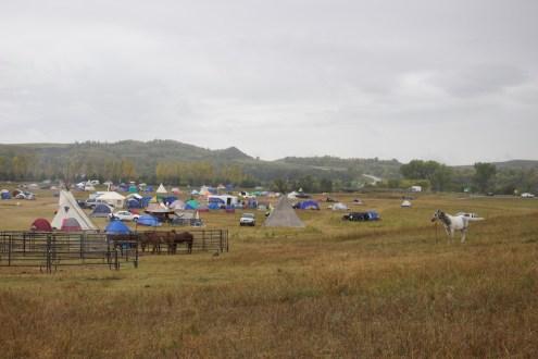 Oceti Sakowin Camp in the rain (Photo: Nadya Tannous)