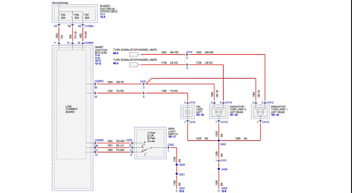 wiring diagram for rear trailer lights wiper motor ford tail 6 stromoeko de light the mustang source forums rh themustangsource com