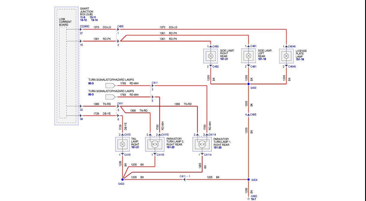 2001 Tacoma Rear Light Wiring Diagram Data Diagrams Toyota Tail Circuit 2003 2008