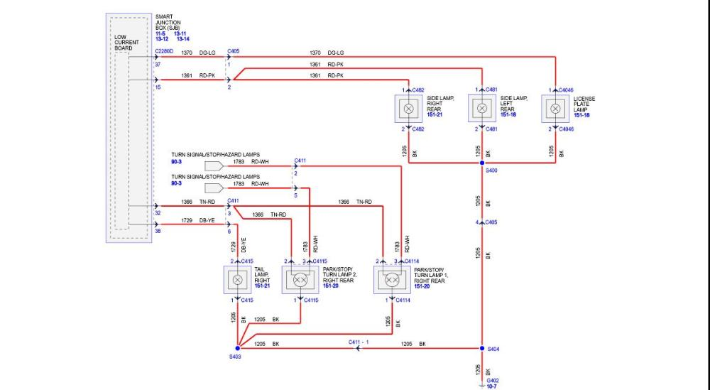 medium resolution of tail light wiring diagram the mustang source ford mustang forums rh themustangsource com rear tail light wiring colors for a 2011 f150 rear tail light