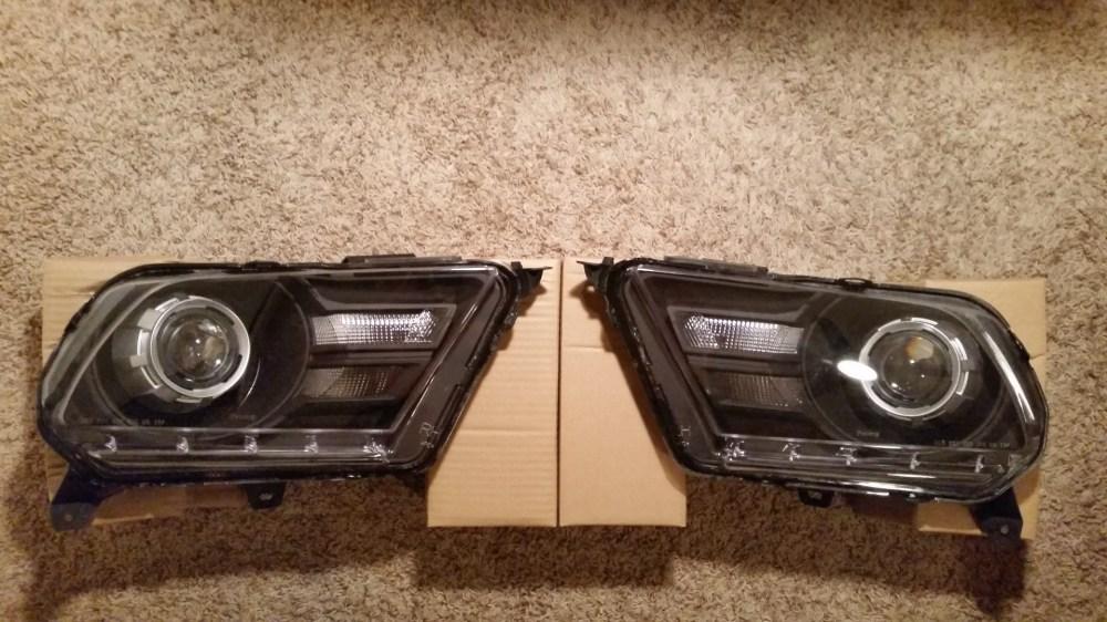 medium resolution of retrofit mustang headlights 2010 2012 loganspc 20150312 230039 jpg