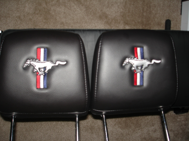 MY headrest embroidered  The Mustang Source  Ford