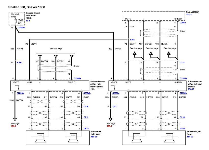 2005 mustang shaker 500 wiring diagram picture wiring