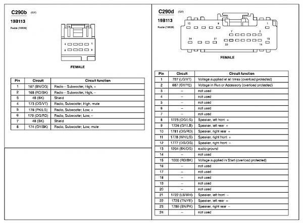 mustang radio wiring harness  description wiring diagrams