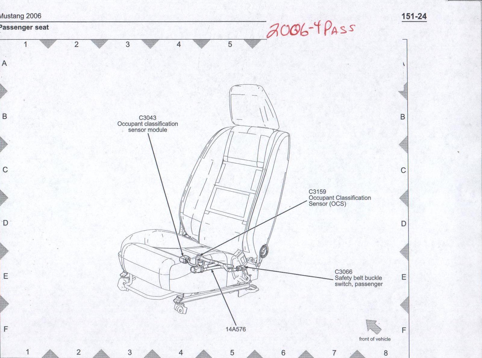 mustang seat switch wiring diagram