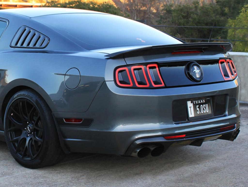 shelby gt500 quad tips on a 2014 gt sc