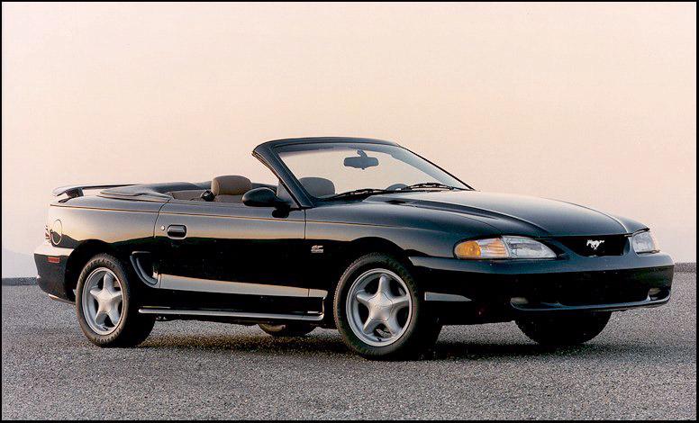 1997 White Mustang Convertible