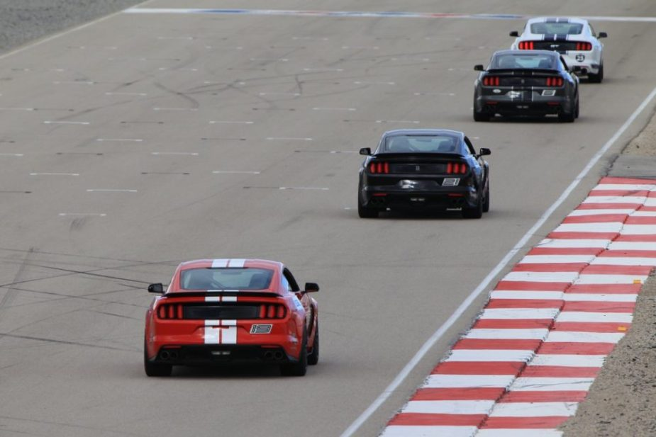 Mustang Shelby GT350s On Track