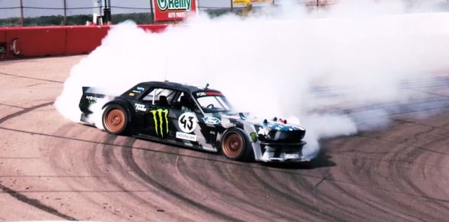 Ken Block takes the 1400 HP Hoonicorn for a test drive.
