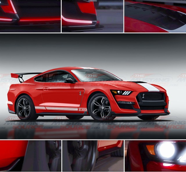 Renderings Shelby Mustang GT500