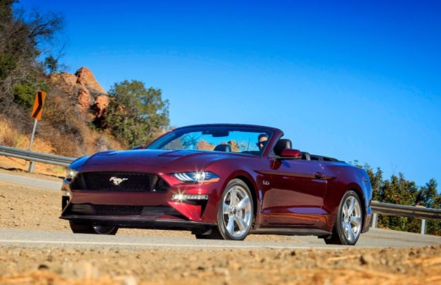2018 Mustang Convertible in Royal Crimson