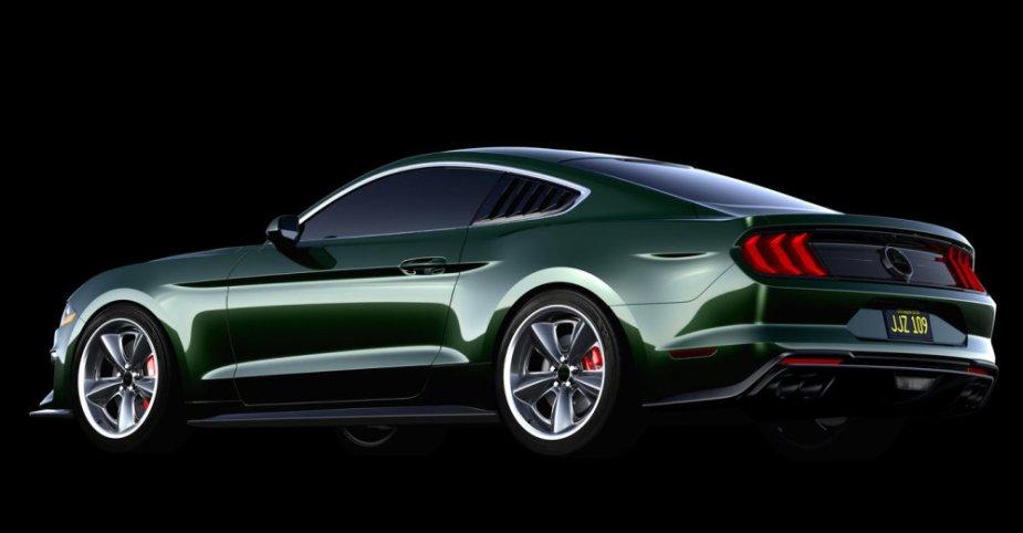 Steve McQueen Bullitt Mustang Rear Side