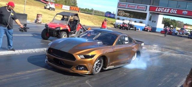 Tim Essick Mustang Burnout