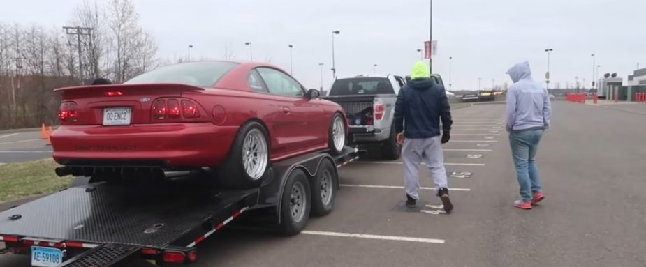 ProCharged 4V SN95 Mustang on a Trailer