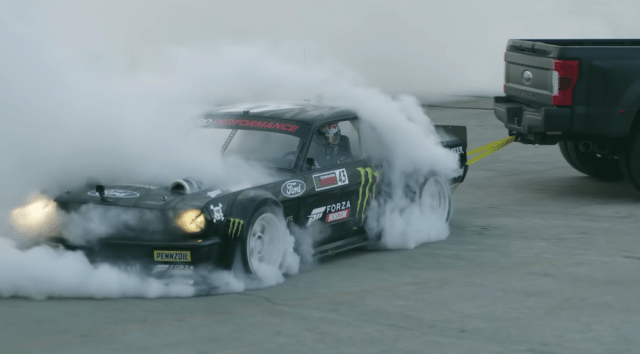 Ken Block's Hoonicorn doing Townuts.