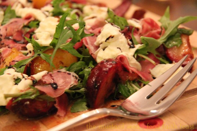 Burrata, Grilled Plum, Parma Ham and Arugula Salad2