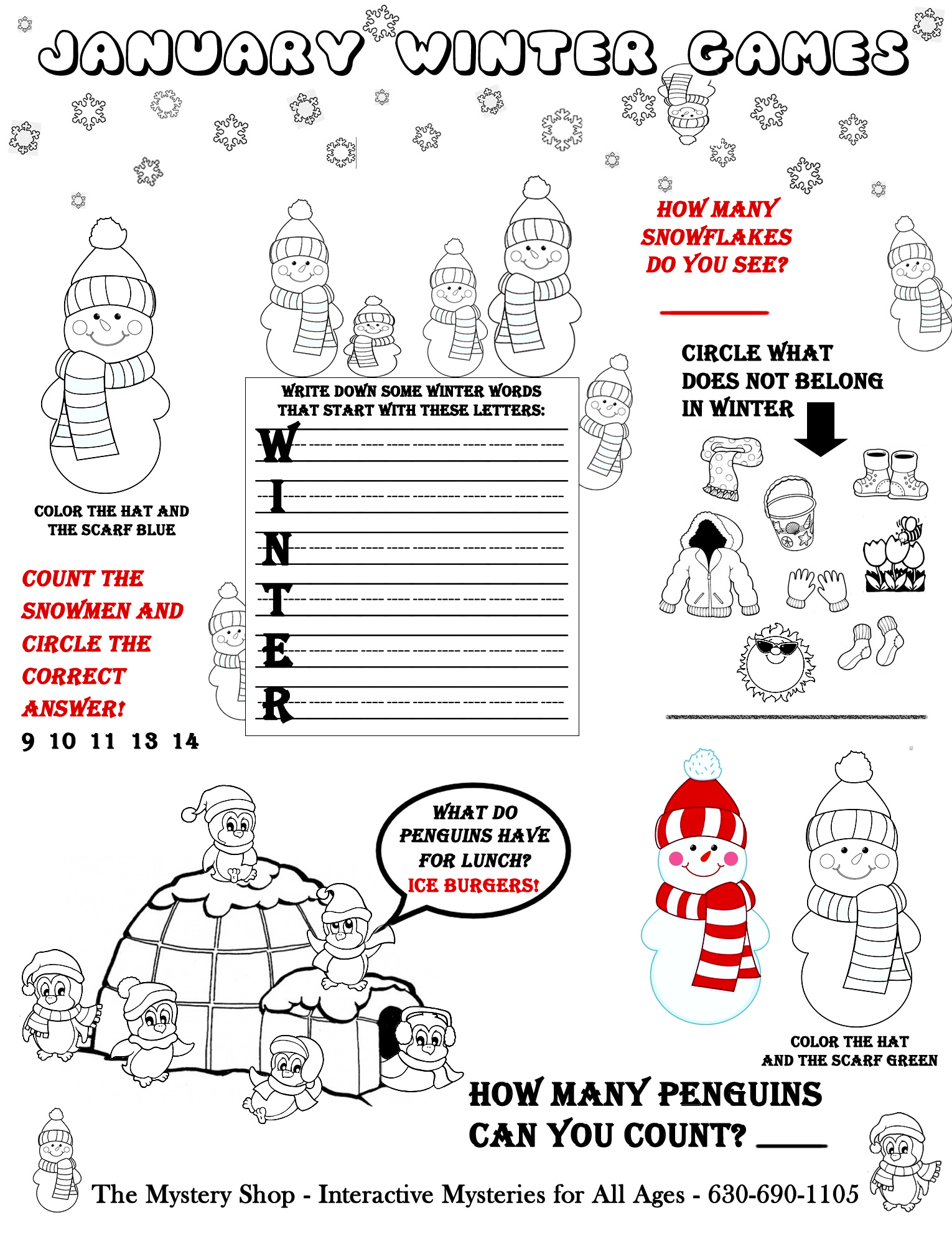 More Mystery Pages for Kids for Coloring with Riddles