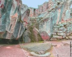 Machu Picchu Cave, it is the image of an eagle in flight with the head on the ground and the wings carved out of rocks.