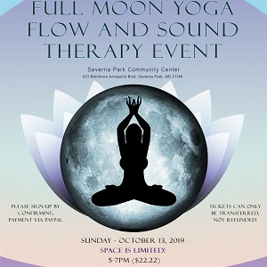 Full Moon Yoga Flow & Sound Therapy @ Severna Park Community Center