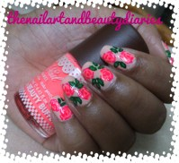 The Vintage Rose Nail Art | The Nail Art and Beauty Diaries