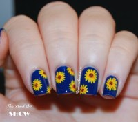 Black Sunflower Nail Designs | www.imgkid.com - The Image ...