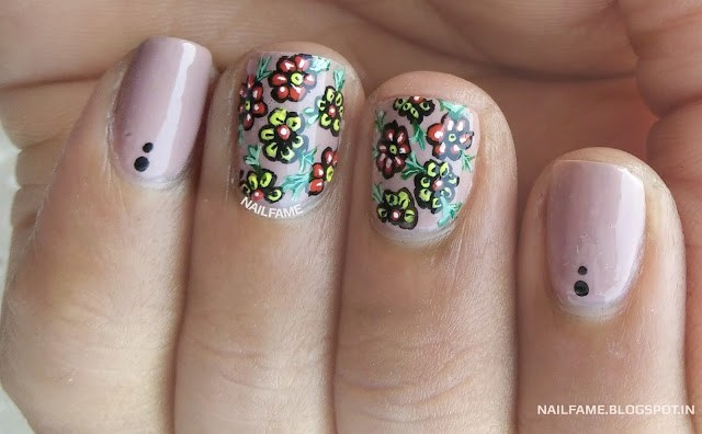 FLOWER NAILART NAILFAME INDIA