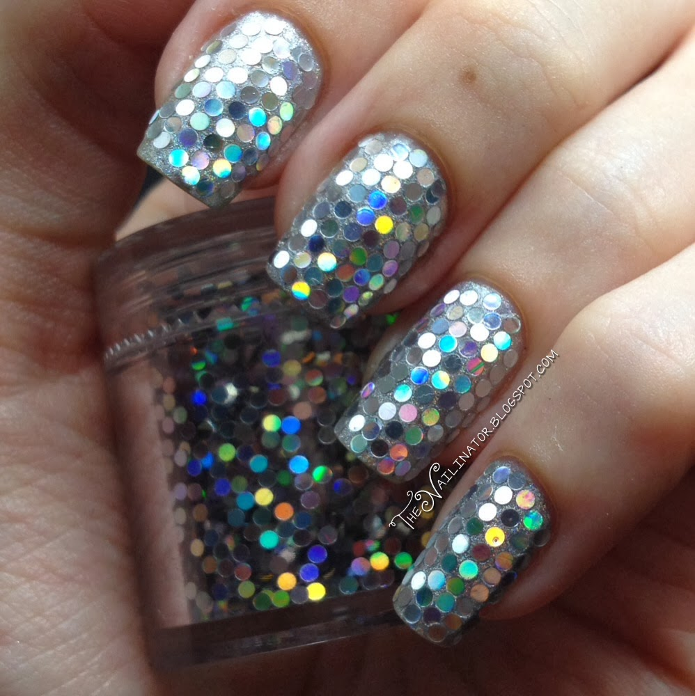 Holy Holo Glitter Placement Nails