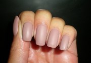 frosted french twist matte manicure