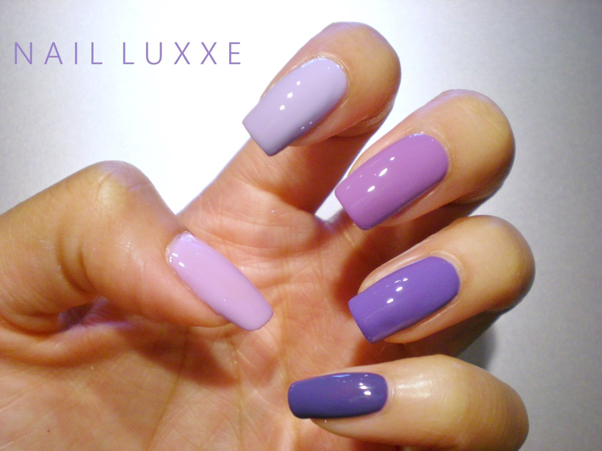 notd purple ombre nail luxxe