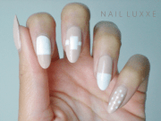 lychee & white nails nail luxxe
