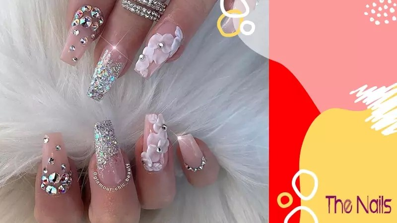 3D Almond Shaped Nails