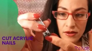 How To Cut Acrylic Nails