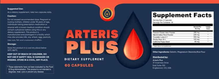 arteris plus ingredients