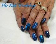 gel polish nail art design