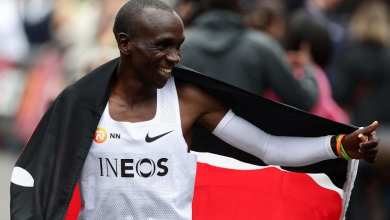 Photo of Eliud Kipchoge crowned Male Athlete of the Year
