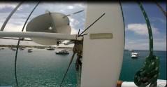 Crack in the mast jumper that needed repair