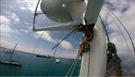 Dry rot in the mast jumper that needed repair