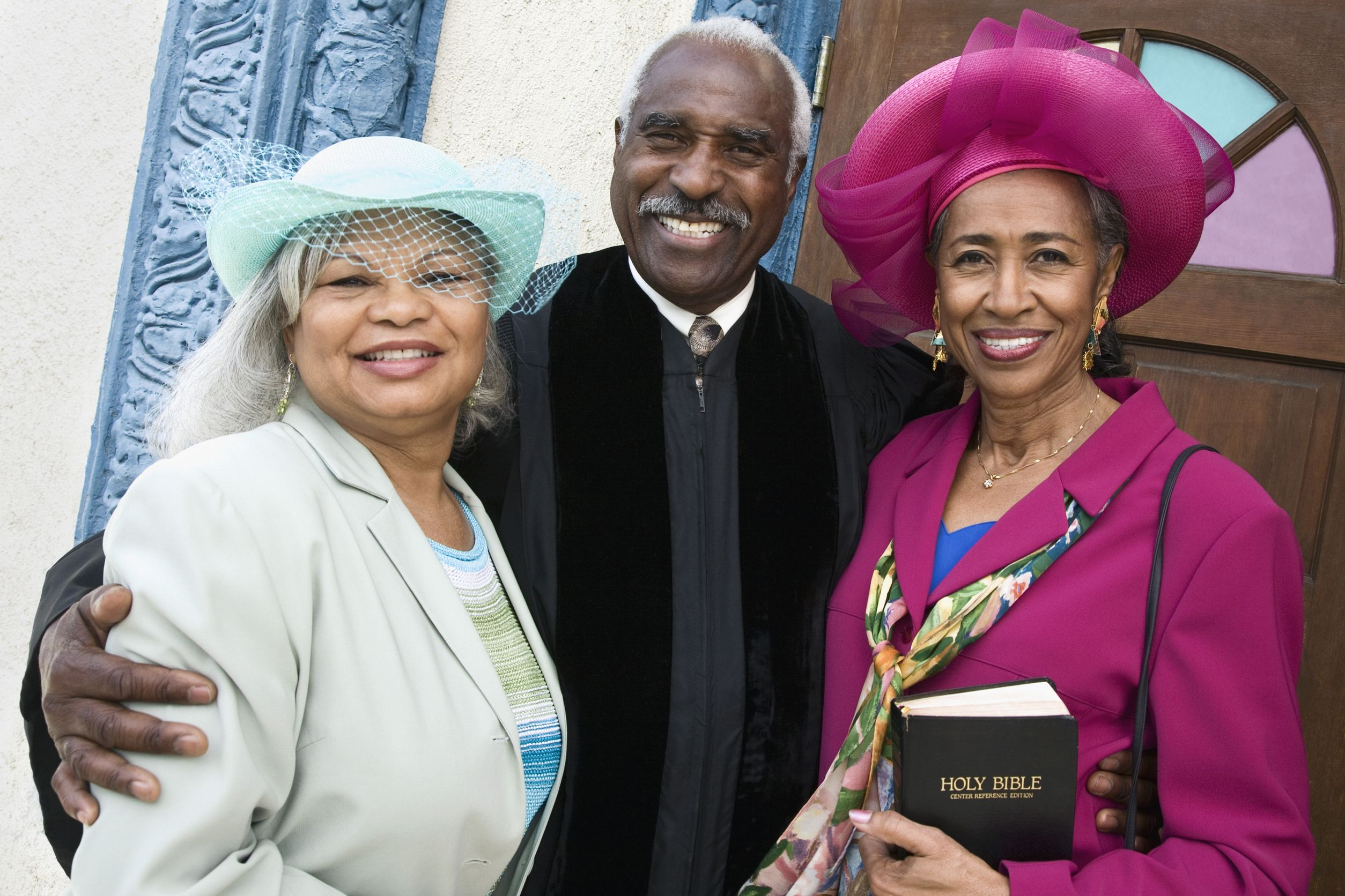 16095115 - portrait of senior african american women and reverend