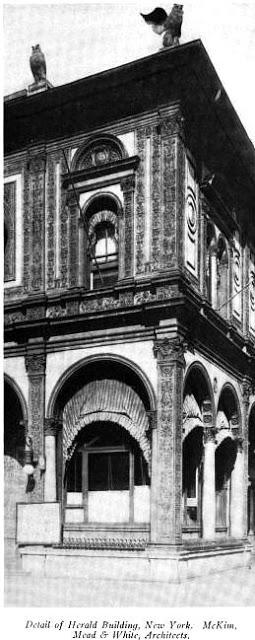 herald building, detail