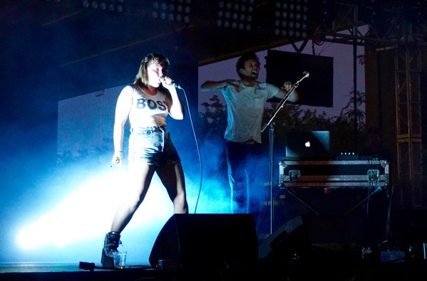 Sylvan Esso having the time of their lives.