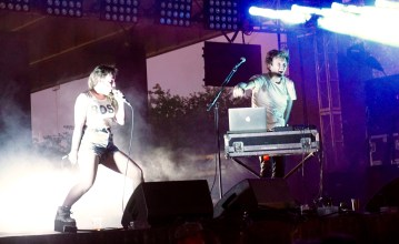 Sylvan Esso capping off the most energetic set of the festival.
