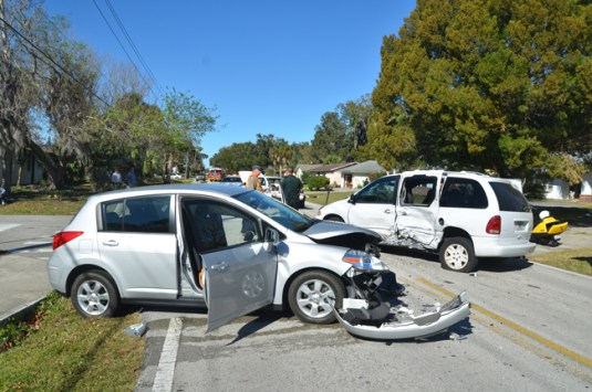 The Nissan Versa had the most damage in this 2013 crashin Florida