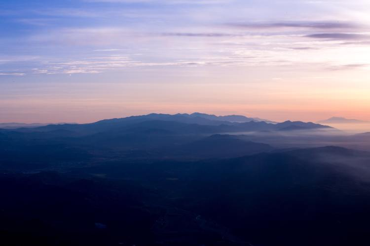 Sunset and mountains - Sierra National Forest has many views like this.