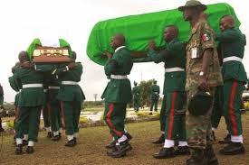 Résultats de recherche d'images pour «Troops recover bodies of Lt.-Col., 15 soldiers»